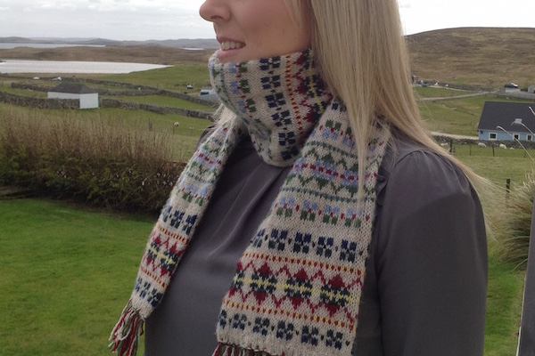 Traditional Shetland patterns influence scarf design | Shetland ...