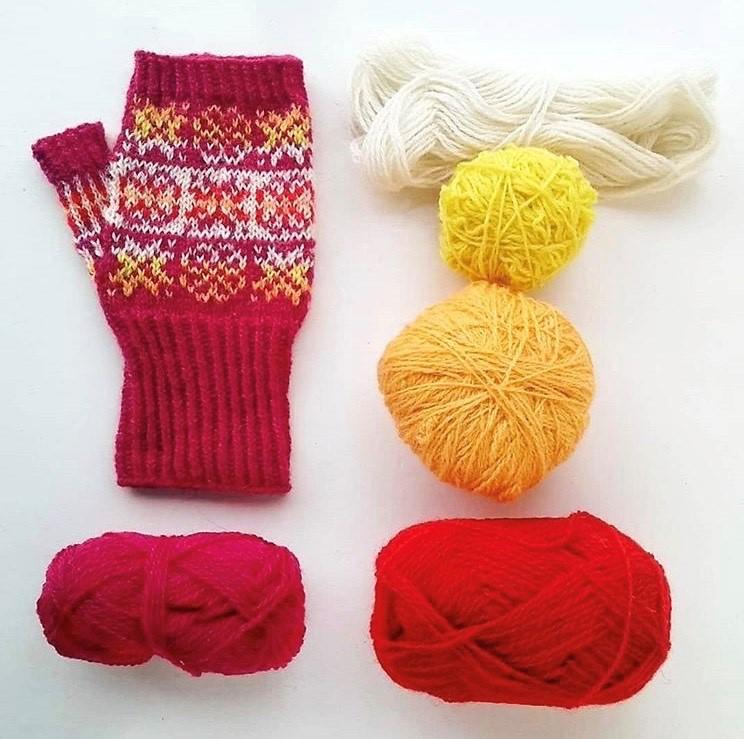 One World is Enough Fleece Lined Classic Childrens Rainbow Design Handknitted Woolen Jacket Fair Trade Wool